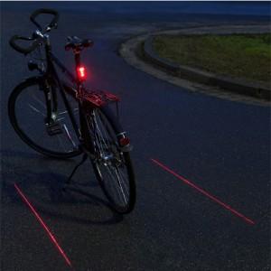 Fahrrad Rücklicht mit Laserspur