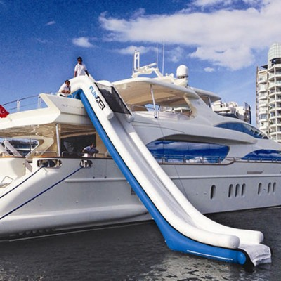 Yacht Wasserrutsche