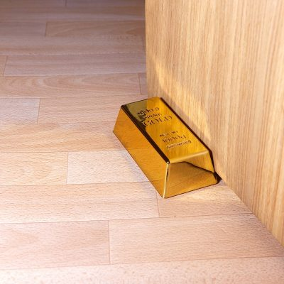 Goldbarren Türstopper