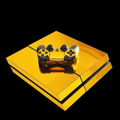 Playstation im Golden Trump Design